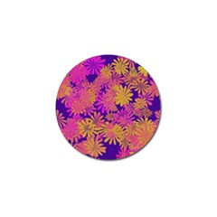 Floral Pattern Purple Rose Golf Ball Marker (10 Pack) by AnjaniArt