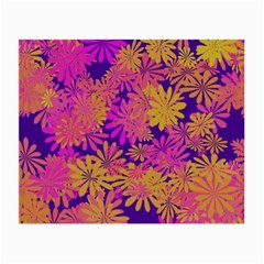 Floral Pattern Purple Rose Small Glasses Cloth