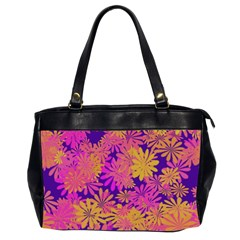 Floral Pattern Purple Rose Office Handbags (2 Sides)  by AnjaniArt