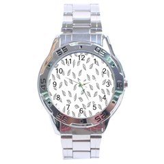 Falling Leaves Stainless Steel Analogue Watch