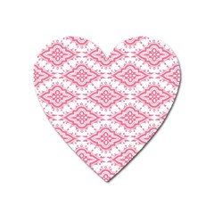 Flower Floral Pink Leafe Heart Magnet by AnjaniArt