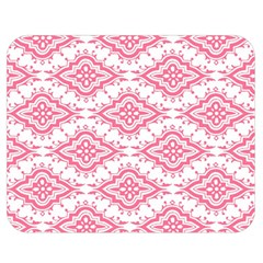 Flower Floral Pink Leafe Double Sided Flano Blanket (medium)