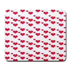 Heart Love Pink Valentine Day Large Mousepads by AnjaniArt
