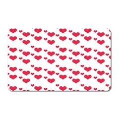 Heart Love Pink Valentine Day Magnet (rectangular) by AnjaniArt