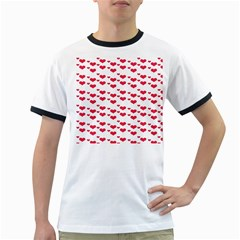 Heart Love Pink Valentine Day Ringer T Shirts by AnjaniArt