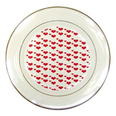 Heart Love Pink Valentine Day Porcelain Plates by AnjaniArt