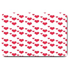 Heart Love Pink Valentine Day Large Doormat  by AnjaniArt