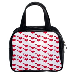 Heart Love Pink Valentine Day Classic Handbags (2 Sides)