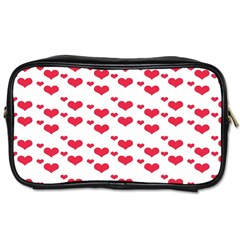 Heart Love Pink Valentine Day Toiletries Bags 2 Side