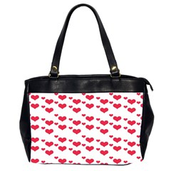 Heart Love Pink Valentine Day Office Handbags (2 Sides)