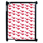 Heart Love Pink Valentine Day Apple iPad 2 Case (Black) Front