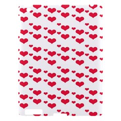 Heart Love Pink Valentine Day Apple Ipad 3/4 Hardshell Case by AnjaniArt