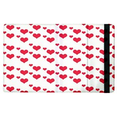 Heart Love Pink Valentine Day Apple Ipad 2 Flip Case by AnjaniArt