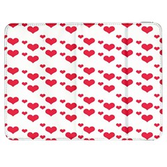 Heart Love Pink Valentine Day Samsung Galaxy Tab 7  P1000 Flip Case by AnjaniArt