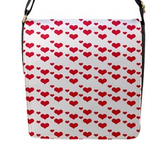 Heart Love Pink Valentine Day Flap Messenger Bag (l)  by AnjaniArt