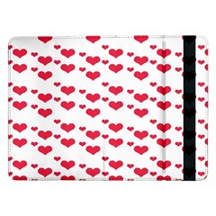 Heart Love Pink Valentine Day Samsung Galaxy Tab Pro 12 2  Flip Case by AnjaniArt