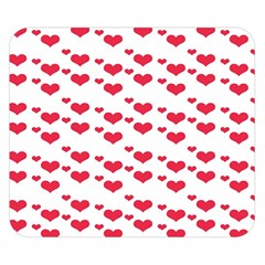 Heart Love Pink Valentine Day Double Sided Flano Blanket (small)  by AnjaniArt