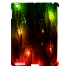 Fractal Manipulations Raw Flower Colored Apple Ipad 3/4 Hardshell Case (compatible With Smart Cover) by AnjaniArt