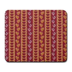 Heart Love Valentine Day Large Mousepads by AnjaniArt