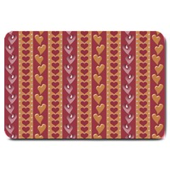 Heart Love Valentine Day Large Doormat  by AnjaniArt