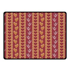 Heart Love Valentine Day Fleece Blanket (small) by AnjaniArt