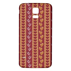 Heart Love Valentine Day Samsung Galaxy S5 Back Case (white) by AnjaniArt