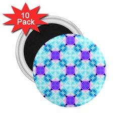 Background Colour Flower Rainbow 2 25  Magnets (10 Pack)