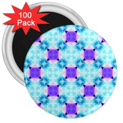 Background Colour Flower Rainbow 3  Magnets (100 Pack)