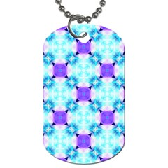 Background Colour Flower Rainbow Dog Tag (two Sides) by AnjaniArt