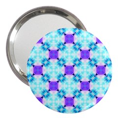 Background Colour Flower Rainbow 3  Handbag Mirrors