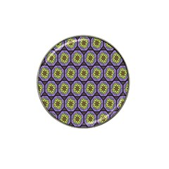 Background Colour Star Flower Purple Yellow Hat Clip Ball Marker (10 Pack) by AnjaniArt