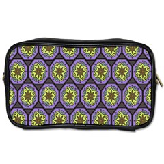 Background Colour Star Flower Purple Yellow Toiletries Bags 2 Side by AnjaniArt