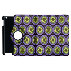 Background Colour Star Flower Purple Yellow Apple Ipad 3/4 Flip 360 Case by AnjaniArt