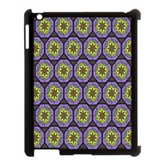Background Colour Star Flower Purple Yellow Apple Ipad 3/4 Case (black)