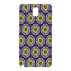 Background Colour Star Flower Purple Yellow Samsung Galaxy Note 3 N9005 Hardshell Back Case by AnjaniArt
