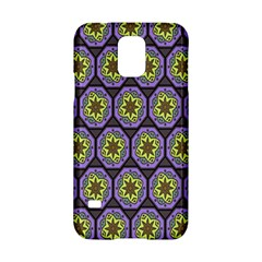 Background Colour Star Flower Purple Yellow Samsung Galaxy S5 Hardshell Case