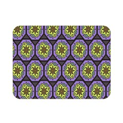 Background Colour Star Flower Purple Yellow Double Sided Flano Blanket (mini)  by AnjaniArt