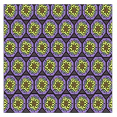 Background Colour Star Flower Purple Yellow Large Satin Scarf (square)