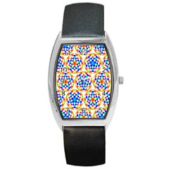 Background Colour Circle Rainbow Barrel Style Metal Watch by AnjaniArt