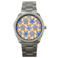 Background Colour Circle Rainbow Sport Metal Watch