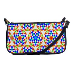 Background Colour Circle Rainbow Shoulder Clutch Bags by AnjaniArt