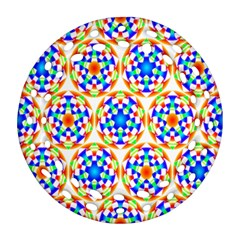 Background Colour Circle Rainbow Ornament (round Filigree)