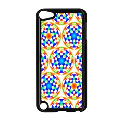 Background Colour Circle Rainbow Apple Ipod Touch 5 Case (black) by AnjaniArt