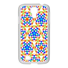 Background Colour Circle Rainbow Samsung Galaxy S4 I9500/ I9505 Case (white)
