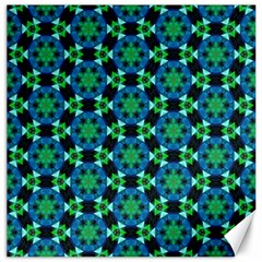 Background Star Colour Green Blue Canvas 12  X 12   by AnjaniArt