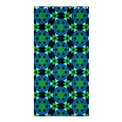Background Star Colour Green Blue Shower Curtain 36  X 72  (stall)  by AnjaniArt