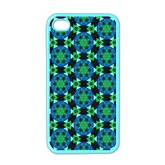 Background Star Colour Green Blue Apple Iphone 4 Case (color)