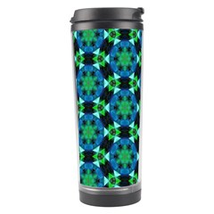 Background Star Colour Green Blue Travel Tumbler
