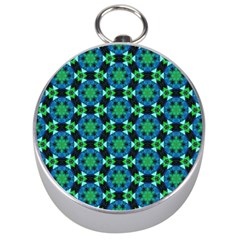 Background Star Colour Green Blue Silver Compasses by AnjaniArt