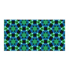 Background Star Colour Green Blue Satin Wrap